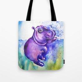 Fiona the Hippo - Splashing around Tote Bag