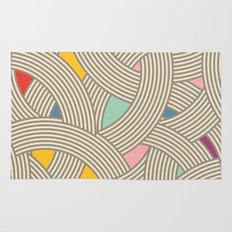 Modern Scandinavian Multi Colour Color Curve Graphic Tonal Rug