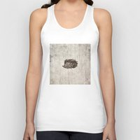 hedgehog Tank Tops featuring Hedgehog by Mr and Mrs Quirynen
