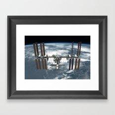 International Space Station Framed Art Print