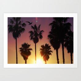 Venice Purple Sky Art Print