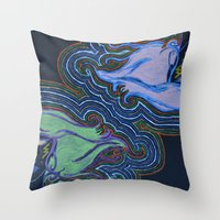 misfits Throw Pillows featuring Misfits by Labartwurx