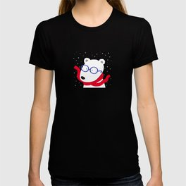 Hipster Polar Bear T-shirt