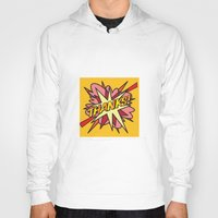 comic book Hoodies featuring Comic Book THANKS! by Thisisnotme