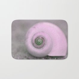 Dream of last summer III - Snail shell in pink on #Society6 Bath Mat