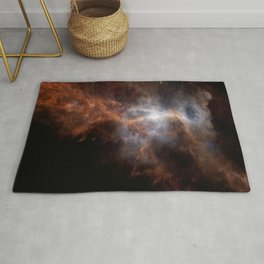 the hunter becomes fire | space 008 Rug