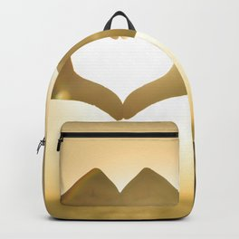 Hand Heart into the Sunset Backpack