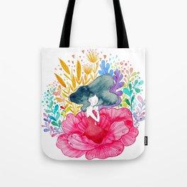 Floral Girl Tote Bag