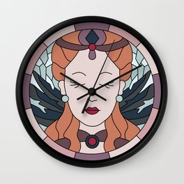 Ice & Fire - Stained Glass Wall Clock