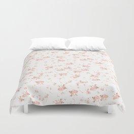 Baby Pink Rosebuds Duvet Cover