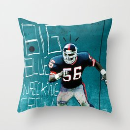 NY Giants' Lawrence Taylor Throw Pillow