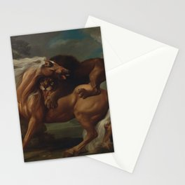 George Stubbs - A Lion Attacking a Horse Stationery Cards