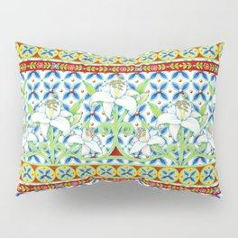Extravagant Elizabethan Folkloric Lily Pillow Sham