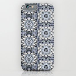 Happy Blue Mandala iPhone Case