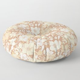 Helleborus and birds | gold Floor Pillow