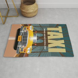 Taxi TV Series Poster Rug