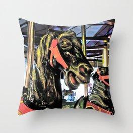 Classic carousal Throw Pillow