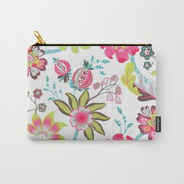 Shabby Floral Pattern 06 Carry-All Pouch