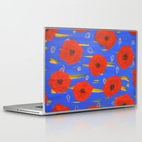 poppies Laptop & iPad Skins featuring POPPIES by Teresa Chipperfield Studios