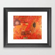 Flower and Leaf Framed Art Print