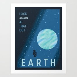 EARTH Space Tourism Travel Poster Art Print