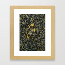 The Golden Hive Framed Art Print