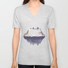 Moon Bear - Geometric, bear shirt, stars, mountains, animal t shirt, animal print t shirt, wildlife Unisex V-Neck