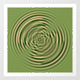 Warped Rings Art Print