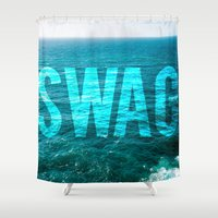 swag Shower Curtains featuring SWAG by MICKEY FICKEY GALLERY