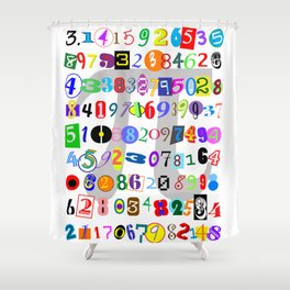 Colorful and Fun Depiction of Pi Calculated Shower Curtain