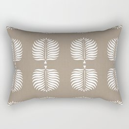 TROPICAL PALMS . COCOA + WHITE Rectangular Pillow