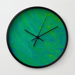 Paint Pouring 66 Wall Clock