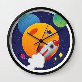 Galactic Adventure Wall Clock