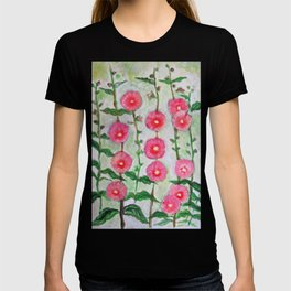 Wild Hollyhocks T-shirt