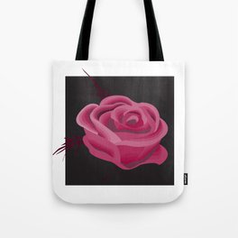Pink Hue Single Rose Tote Bag