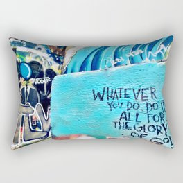 Whatever you do, do it all for the glory of God 1 Corinthians 10:31 Rectangular Pillow