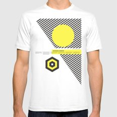 Impossible Symmetry - By White MEDIUM Mens Fitted Tee