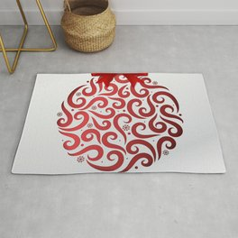 Decorative Christmas Ornament Pattern Rug