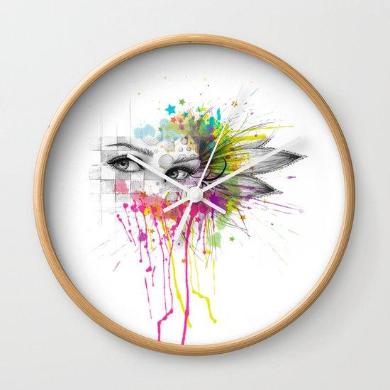 Beautiful Flower Eyes Wall Clock