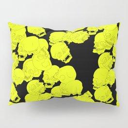 Neon Skulls Pillow Sham