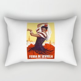 Spain 1959 Seville April Fair Travel Poster Rectangular Pillow