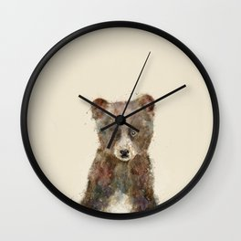 little brown bear Wall Clock