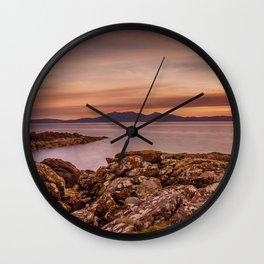 Arran Sunset Wall Clock