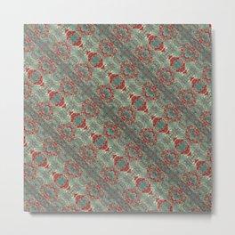 Autumn Green & Red Metal Print
