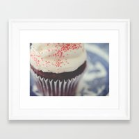 cupcake Framed Art Prints featuring cupcake by Beverly LeFevre