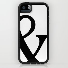 Typography, Ampersand, And Sign iPhone Case