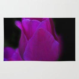 blossoms on black background -01- Rug