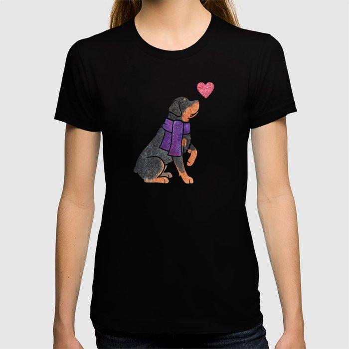 Watercolour Rottweiler T-shirt