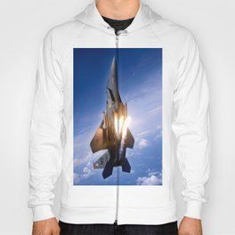 f-15 jet launching missile Hoody