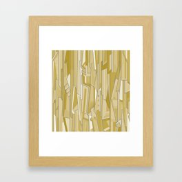 Graph (tan) Framed Art Print